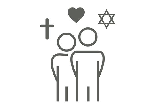 Picture of Catholic and Jewish Cantors Discussion