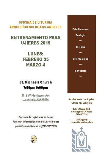 Picture of Entrenamiento de Ujieres - St Michaels Church