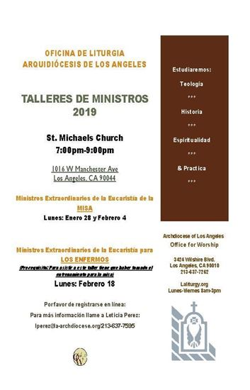 Picture of Entrenamiento para Ministros de Eucaristia- St. Michaels Church