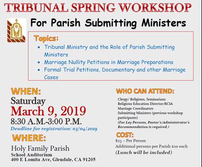 Picture of 2019 Tribunal Spring Workshop