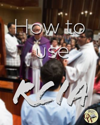 Picture of HOW TO USE THE RITE OF CHRISTIAN INITIATION OF ADULTS -102619