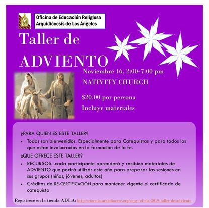 Picture of Copy of OLA 2019 - Taller de  ADVIENTO